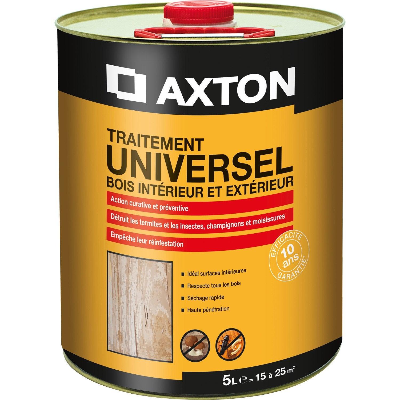 traitement du bois multiusage axton 10 ans 5 l leroy merlin