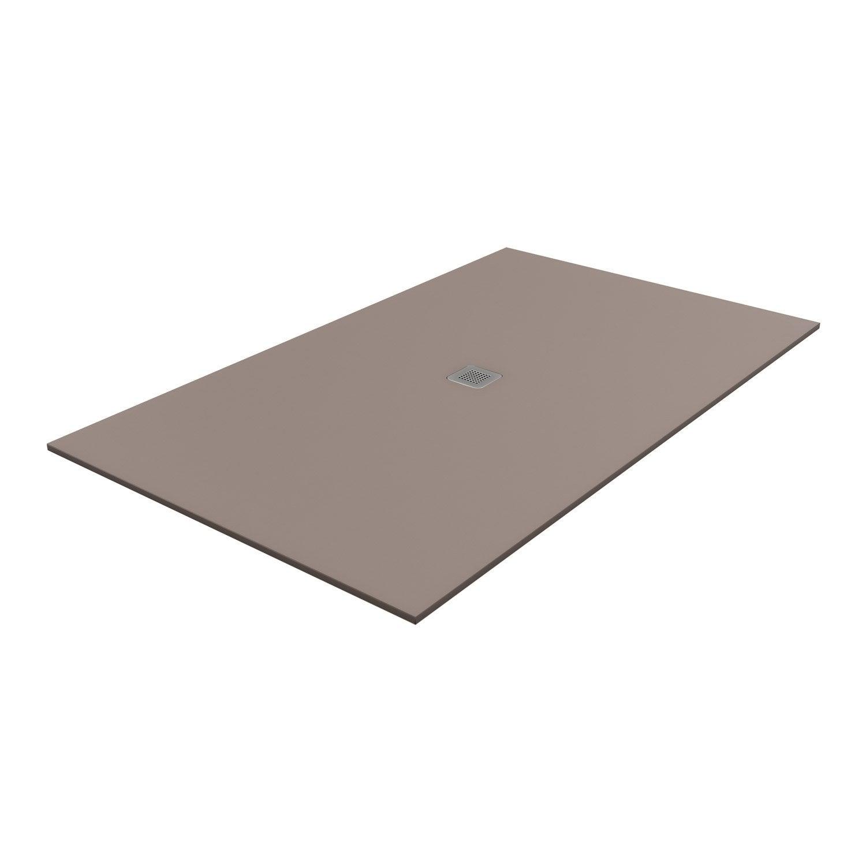 Receveur de douche rectangulaire x cm pierre marron kioto2 leroy merlin - Receveur de douche 160 x 80 ...