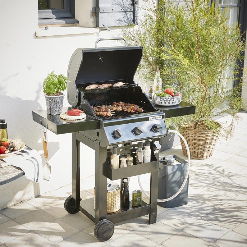 Barbecue au gaz NATERIAL Alton, noir | Leroy Merlin