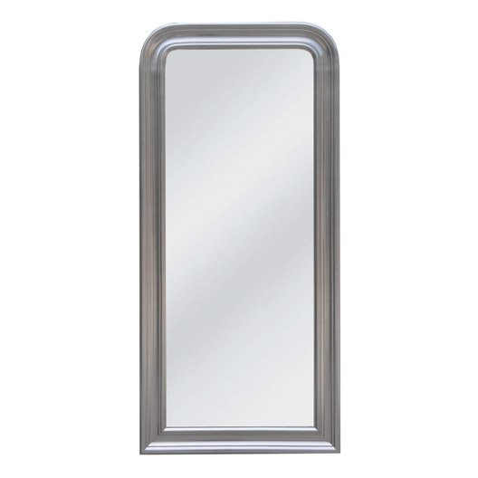 miroir daventry rectangle, argent, l.51.6 x h.131.6 cm | leroy merlin