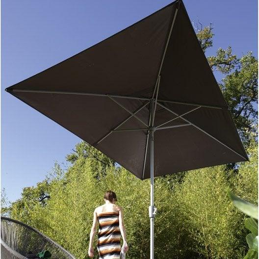 good parasol droit helios gris dor l x l cm with toile parasol triangle. Black Bedroom Furniture Sets. Home Design Ideas