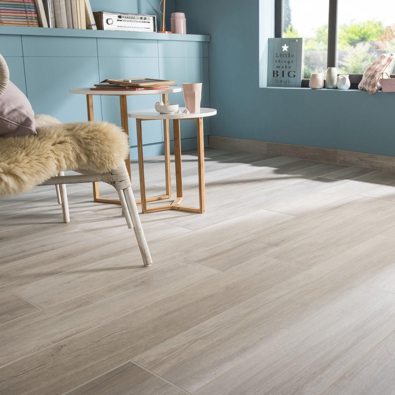 Carrelage sol/mur intenso bois blanc Way l.19.7xL.120cm GRAND DESIR-SUPERGRES