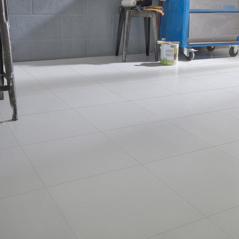 Carrelage Sol Et Mur Blanc Couleur Nevada L X L Cm Leroy - Carrelage piscine et tapis handm