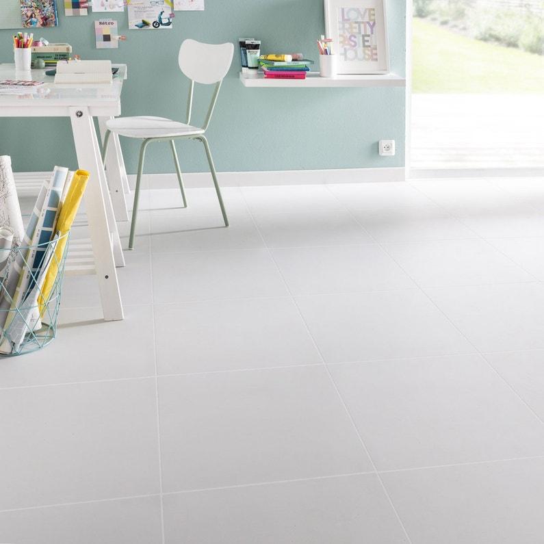 Carrelage Sol Et Mur Blanc Couleur L45 X L45 Cm Leroy Merlin