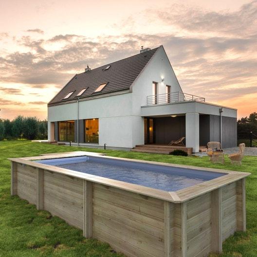 piscine hors sol bois urbaine proswell l 6 x l 2 5 x h 1. Black Bedroom Furniture Sets. Home Design Ideas