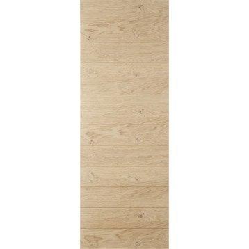 Porte coulissante chêne plaquée chêne Noe ARTENS, H.204 x l.73 cm
