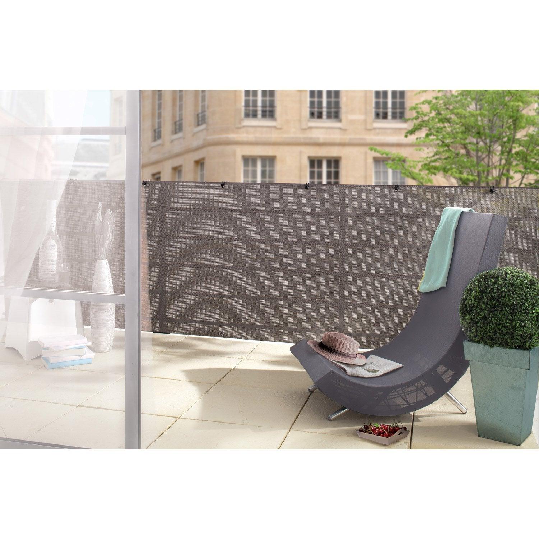 brise vue polyester nortene gris 85 cm x cm leroy merlin. Black Bedroom Furniture Sets. Home Design Ideas