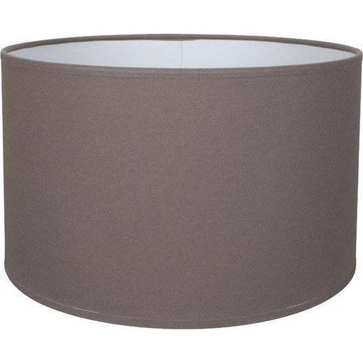 abat jour tube 18 cm toiline brun taupe n 3 inspire leroy merlin. Black Bedroom Furniture Sets. Home Design Ideas