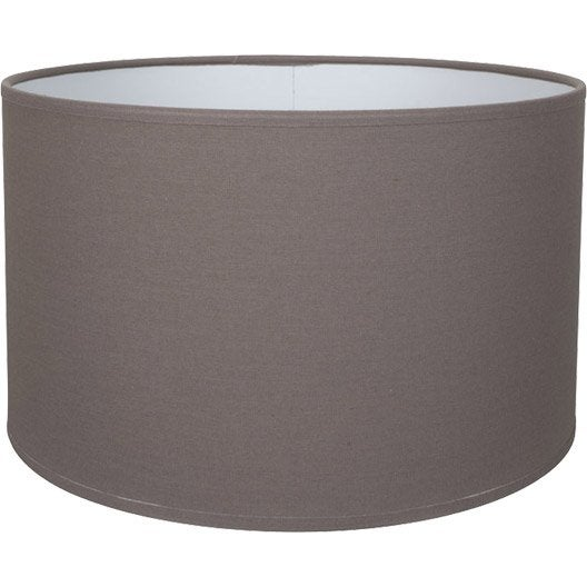 abat jour tube 13 cm toiline brun taupe n 3 inspire leroy merlin. Black Bedroom Furniture Sets. Home Design Ideas