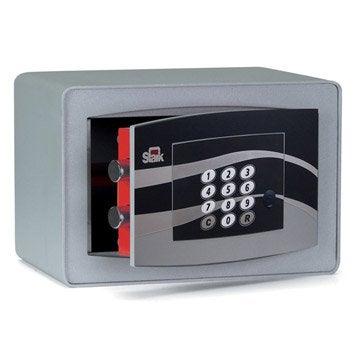 Coffre-fort à code STARK garant N3851 H.18 x l.28 x P.20 cm