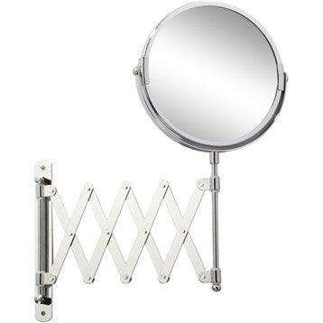Miroir grossissant miroir de salle de bains leroy merlin for Accrocher miroir au mur