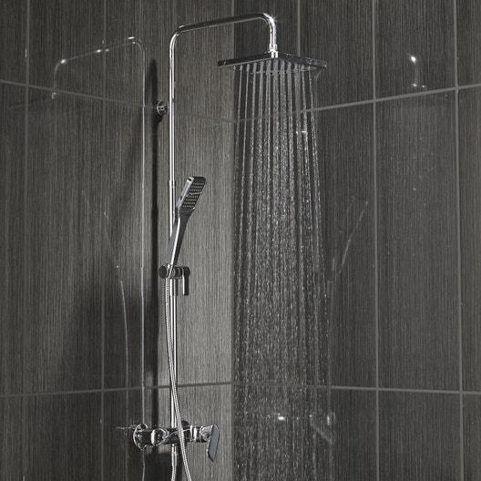 colonne de douche avec robinetterie sensea remix leroy merlin. Black Bedroom Furniture Sets. Home Design Ideas