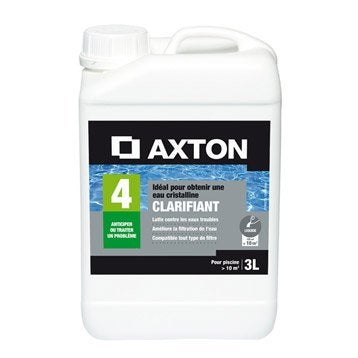Clarifiant piscine AXTON, liquide 3 l 3 kg