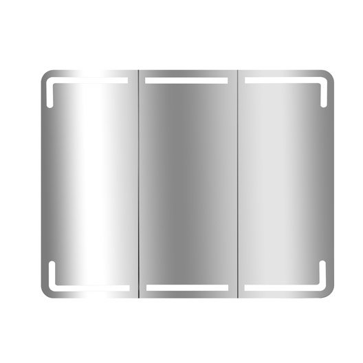 armoire de toilette lumineuse l.75 cm, blanc, estrella | leroy merlin