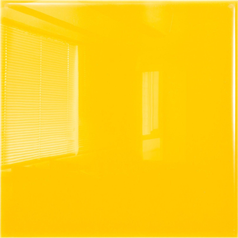 Faïence mur jaune yuzu brillant l.19.7 x L.19.7 cm, Astuce