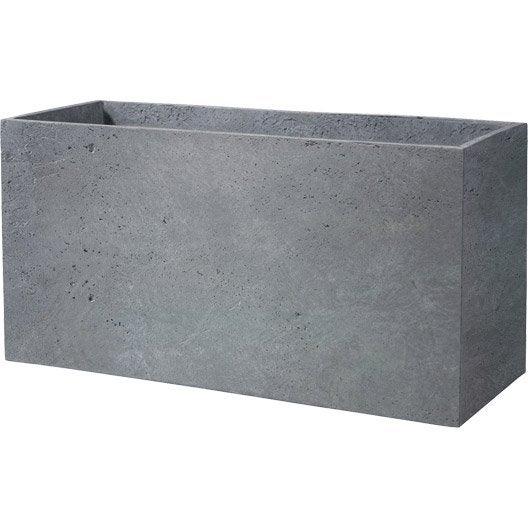 lot de 3 murets fibre deroma x x cm gris leroy merlin. Black Bedroom Furniture Sets. Home Design Ideas