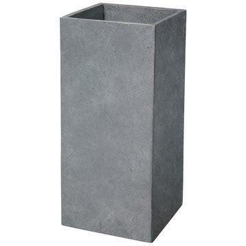 Cube fibre DEROMA Diam.27 x H.60 cm gris