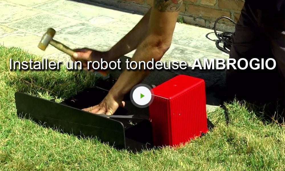 tondeuse robot connect e ambrogio l30 2000 m leroy merlin. Black Bedroom Furniture Sets. Home Design Ideas