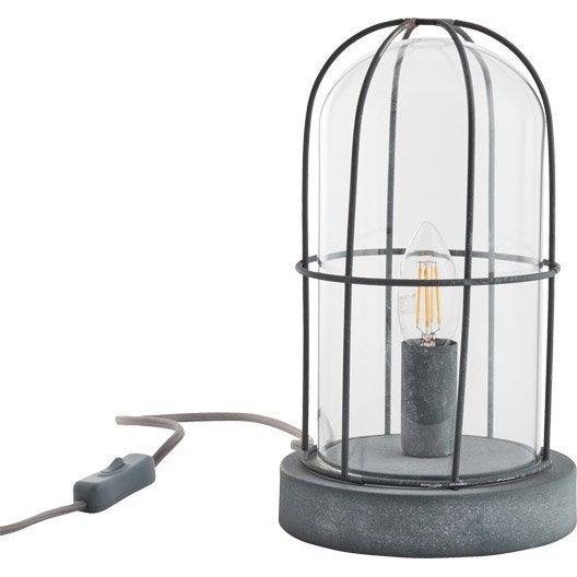 Lampe lampe sur pied poser au meilleur prix leroy for Lampe eclipse meilleur prix