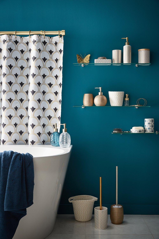 Les accessoires de salle de bains glamour  Leroy Merlin