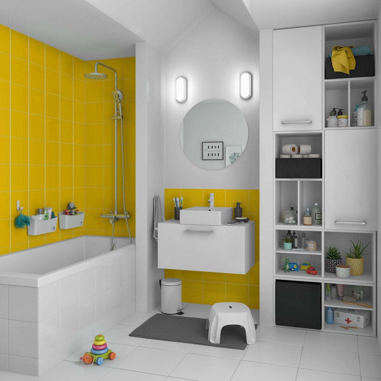 On ose la couleur jaune dans la salle de bains | Leroy Merlin