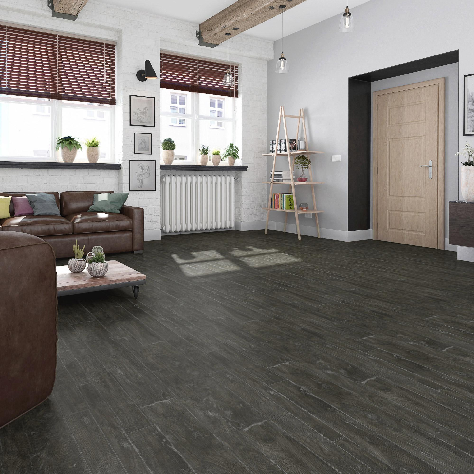 Sol PVC marron bruges dark marron, GERFLOR Texline l.4 m