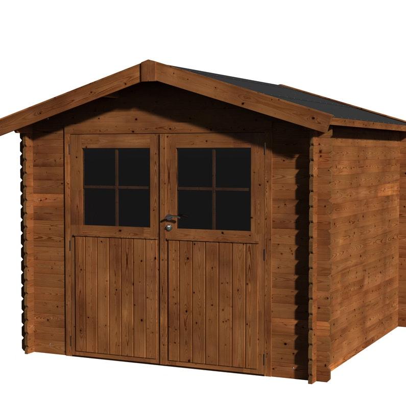 Abri de jardin bois NATERIAL Kabeo Evolution+ traité autoclave Ep.28 mm,  5.90 m²