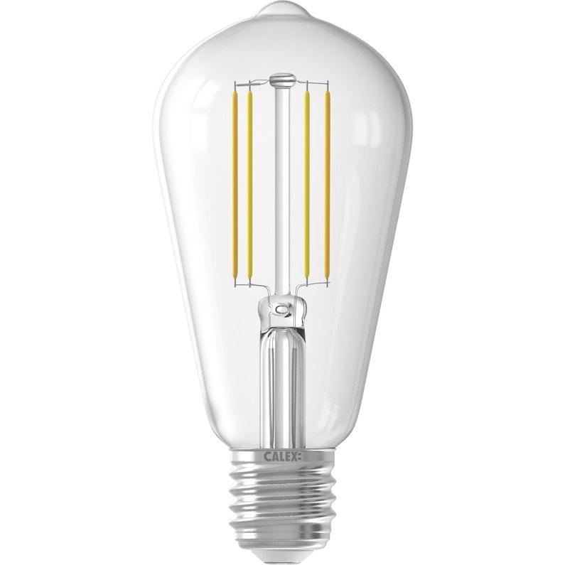 Calex Rustic Lamp - Ampoule connectée LED Edison E27 806 Lm variation de blancs + intensité