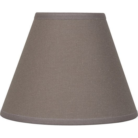 abat jour sweet 14 cm toiline brun taupe n 3 inspire. Black Bedroom Furniture Sets. Home Design Ideas