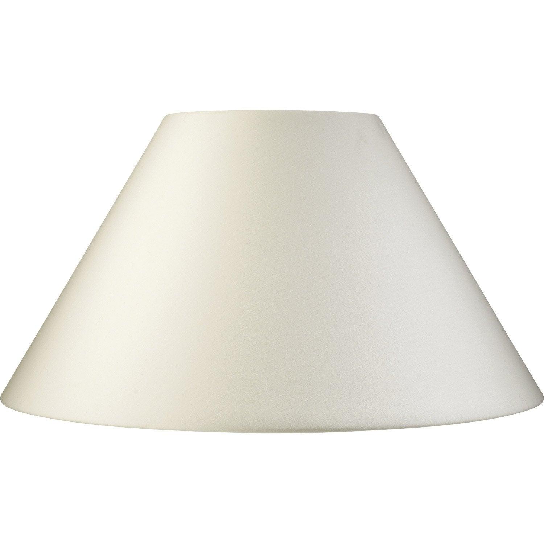 abat jour sweet 25 cm toiline blanc ivoire n 3 inspire leroy merlin. Black Bedroom Furniture Sets. Home Design Ideas