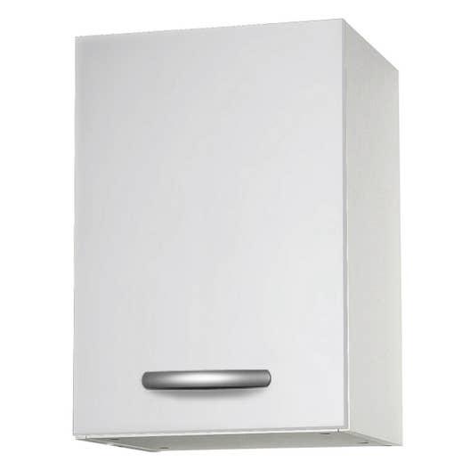 Meuble de cuisine haut 1 porte blanc l40x leroy merlin - Meuble cuisine haut porte vitree ...