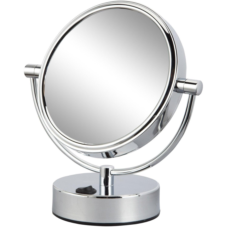 Miroir grossissant x 5 rond à poser, H.17 x l.17 x P.12 cm, Mathilde