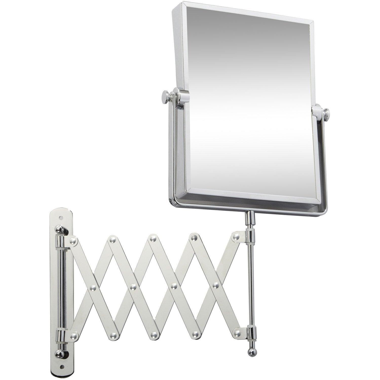 Miroir Grossissant Salle De Bain miroir grossissant x5 rectangulaire à fixer, h.20.5 x l.15.5 x p.4.2