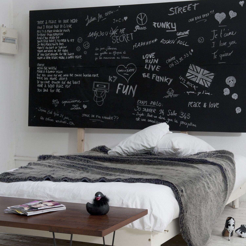 Décorer sa tête de lit avec un tableau noir | Leroy Merlin