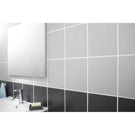 Fa ence mur gris clair fly a ro x cm leroy merlin - Faience cuisine grise ...