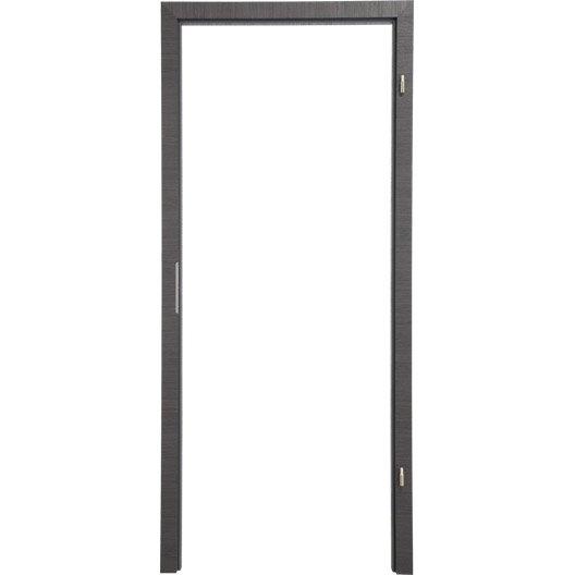 Kit ébrasement pour porte londres 93 cm, poussant gauche décor chêne grisé