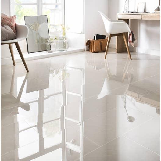 Carrelage sol et mur beige effet marbre maderas x l for Carrelage sanitaire