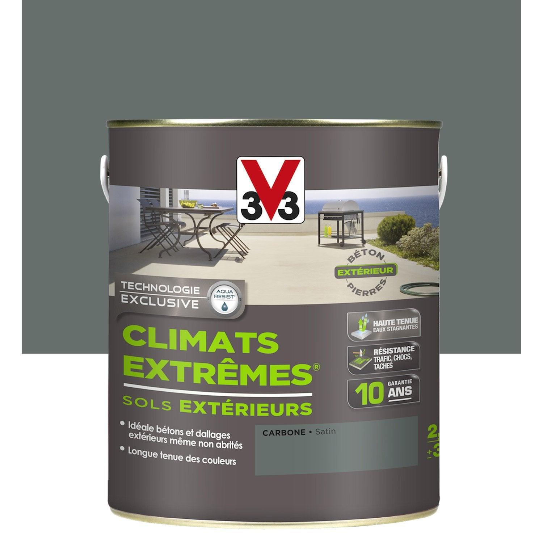 Peinture Sol Extérieur Climats Extrêmes V33, Gris Carbone, 2.5 L ...