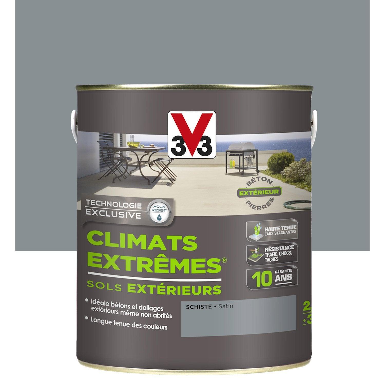Peinture Sol Ext Rieur Climats Extr Mes V33 Gris Schiste 2 5l
