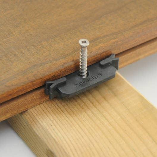 lot de 100 clips et vis pour planches composite et. Black Bedroom Furniture Sets. Home Design Ideas