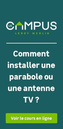 R partiteur amplificateur coupleur r ception tv leroy merlin - Comment installer une parabole satellite ...