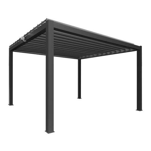 pergola autoportante consensus aluminium gris anthracite 12 m leroy merlin. Black Bedroom Furniture Sets. Home Design Ideas