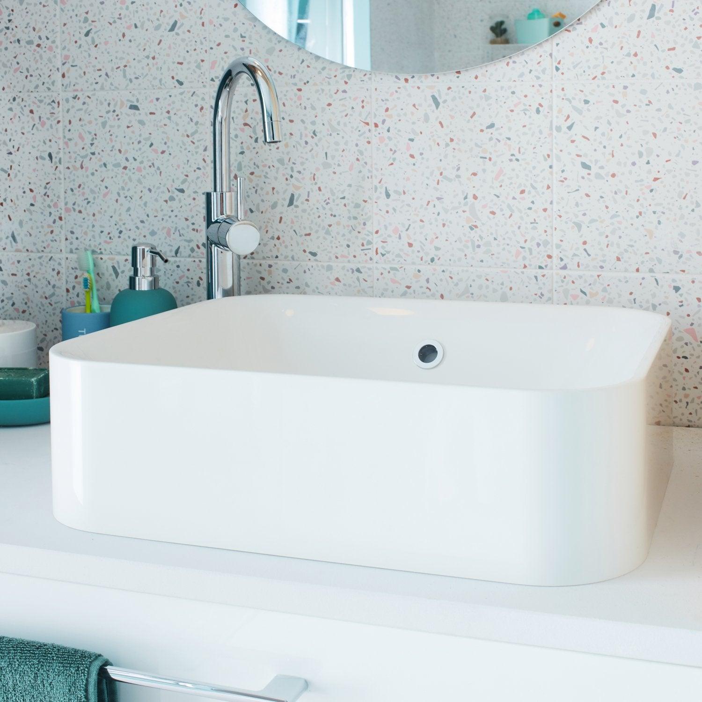 vasque a poser rectangulaire salle de bain Une vasque à poser rectangulaire, idéal pour les petites salle de bains
