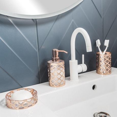 Accessoires de salle de bains poser et fixer leroy for Accessoires de salle de bain chic