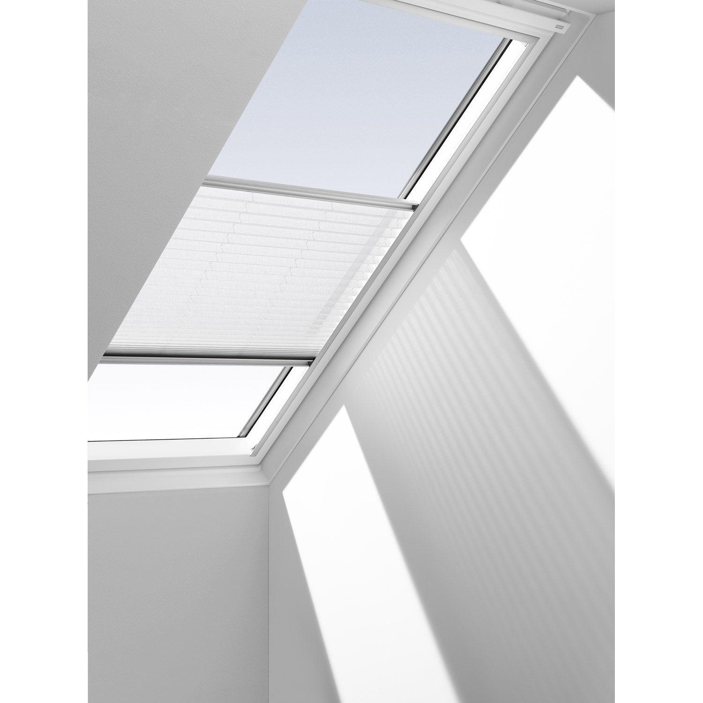 Store fenêtre de toit rideau ecru VELUX Rhl ck00 | Leroy Merlin