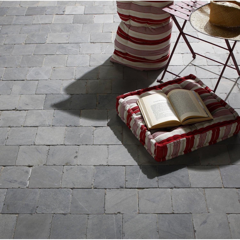 dalle en pierre bleue abysse bleu gris x cm ep. Black Bedroom Furniture Sets. Home Design Ideas