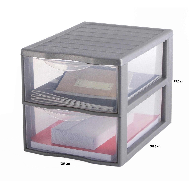 tour de rangement orgamix plastique x x cm leroy merlin. Black Bedroom Furniture Sets. Home Design Ideas