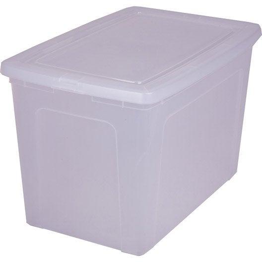 boîte modular clear box plastique , l.39.5 x p.59.5 x h.37.8 cm