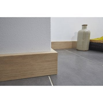 Plinthe bois plinthe mdf plinthe pvc leroy merlin for Plinthe renovation