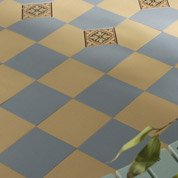 Carrelage sol et mur bleu effet uni Archi l.15 x L.15 cm
